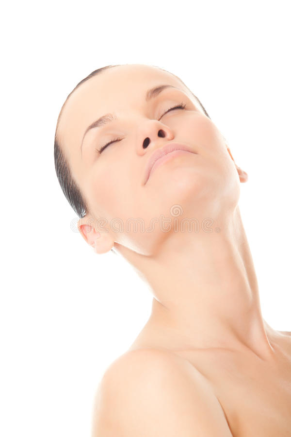 Download Closeup Face Beautiful Woman With Fresh Clean Skin Stock Image - Image: 20749843