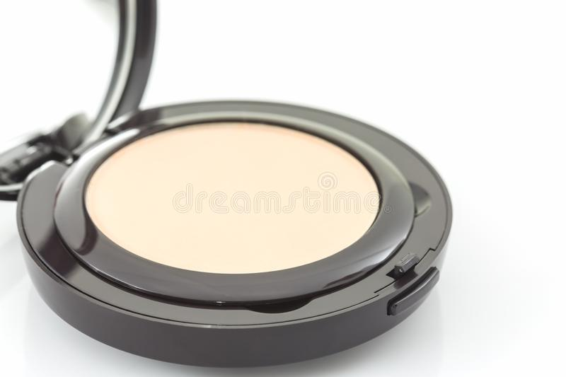 Closeup of face powder. royalty free stock image