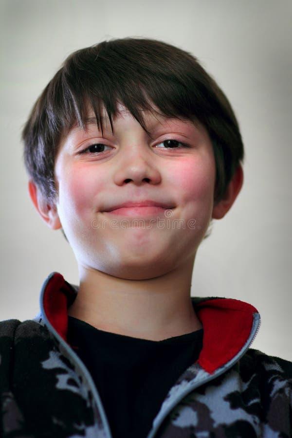 Closeup Face Young Boy stock photos
