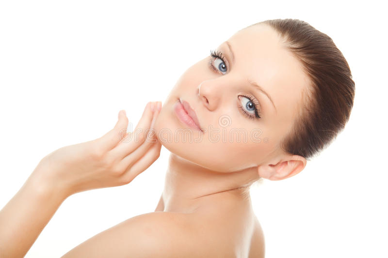 Download Closeup Face Young Woman With Healthy Clean Skin Stock Image - Image: 20668015