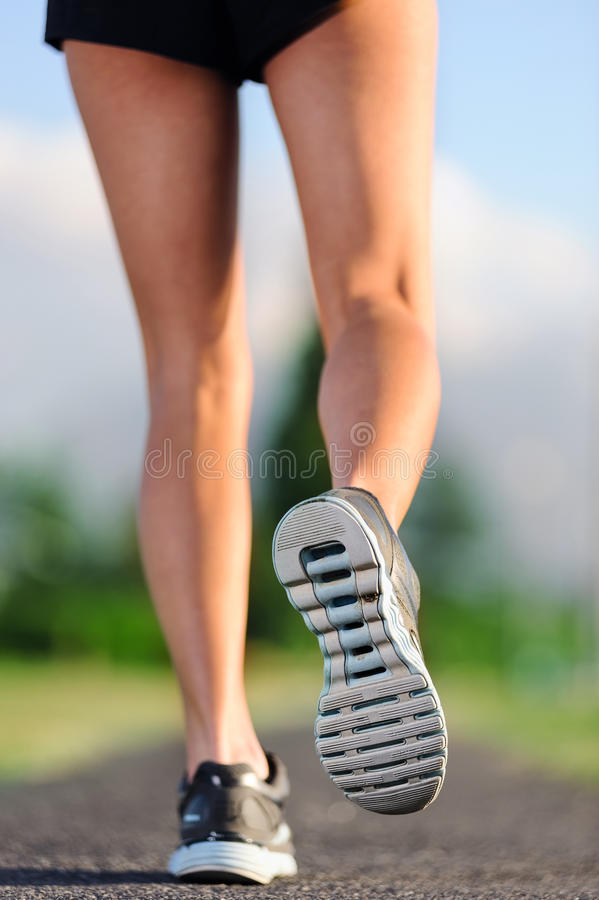 Download Closeup of feet on pathway stock image. Image of action - 25746463