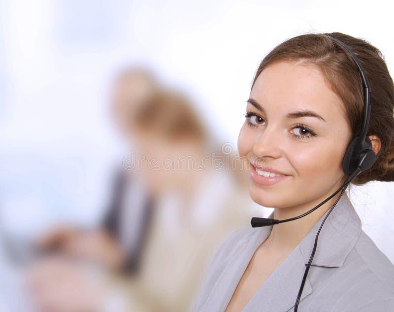 Closeup of female customer service representative royalty free stock photos