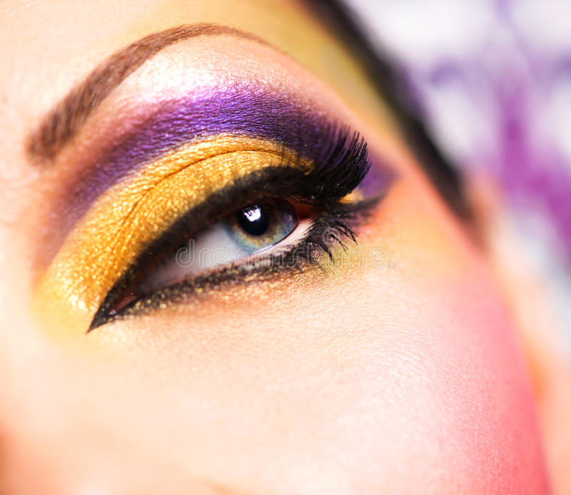 Download Beautiful Face Of A Woman With Fashion Makeup Stock Image - Image: 30243831