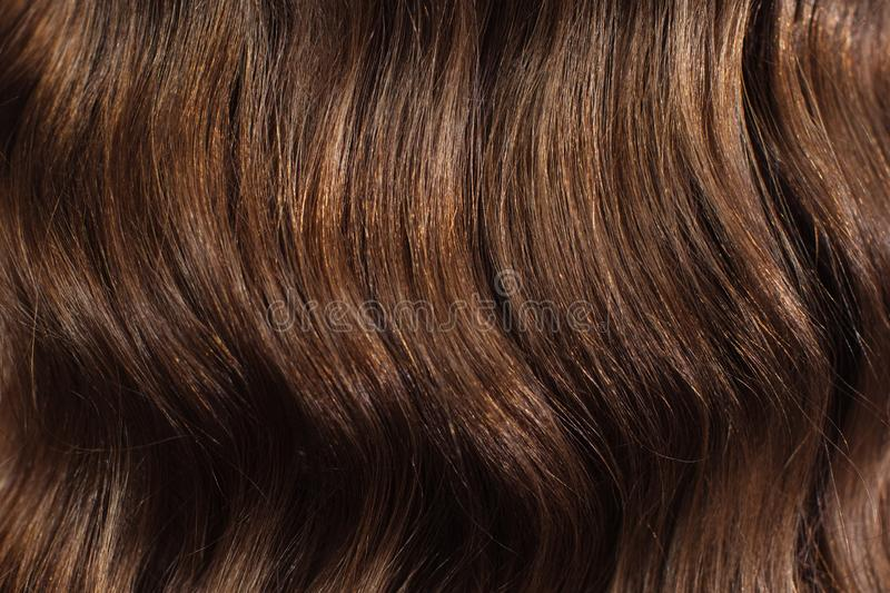 Closeup of female hands of hairdresser or coiffeur makes hairstyle. Hair stock photos