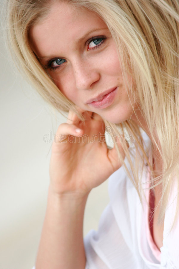 Closeup female model stock photos