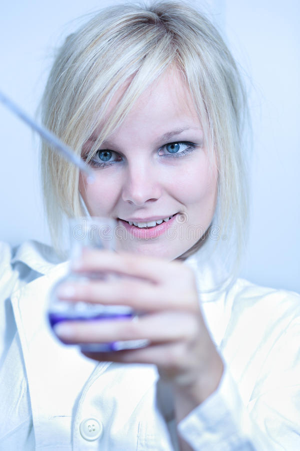 Closeup of a female researcher. Carrying out experiments in a laboratory stock photos