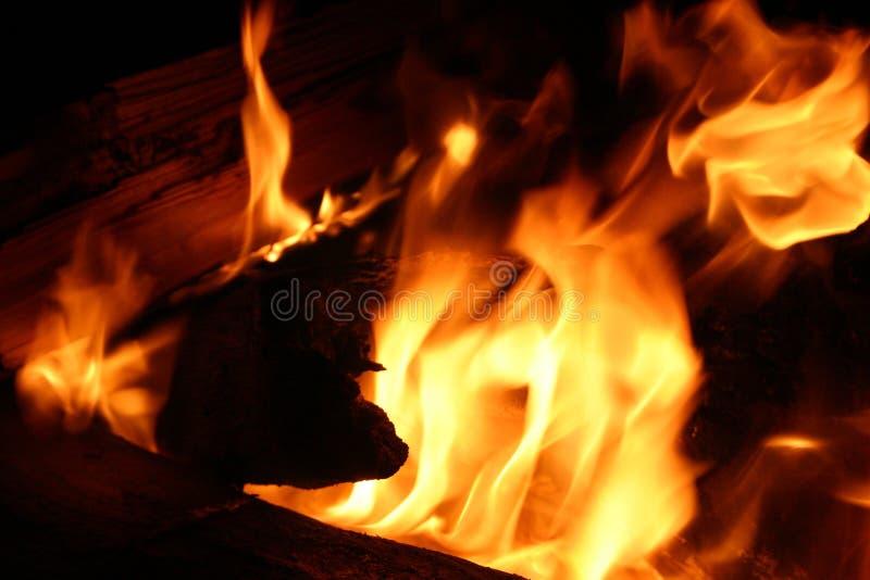Closeup of fire. Closeup of campfire royalty free stock photos
