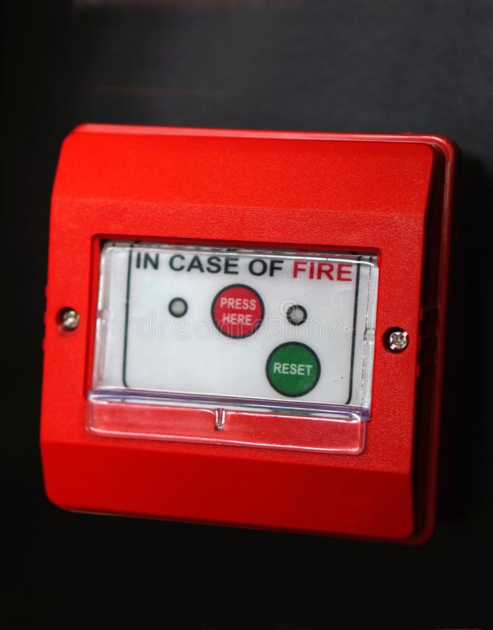 Closeup of Fire alarm or protection equipment in an Industry royalty free stock photography