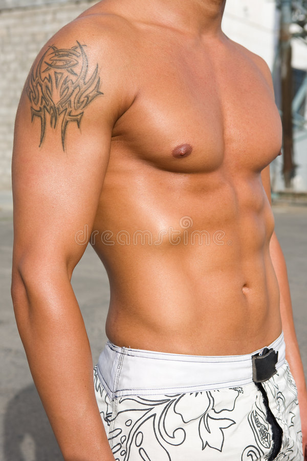 Download Closeup Of Fit Boy With Tattoo Stock Image - Image of shape, athletic: 4507803