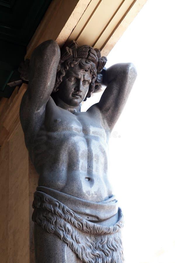Atlas Sculptures In Hermitage royalty free stock image