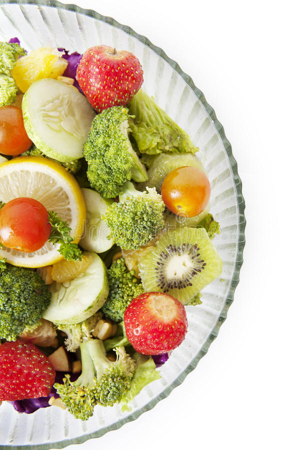 Closeup of fresh salad royalty free stock photos