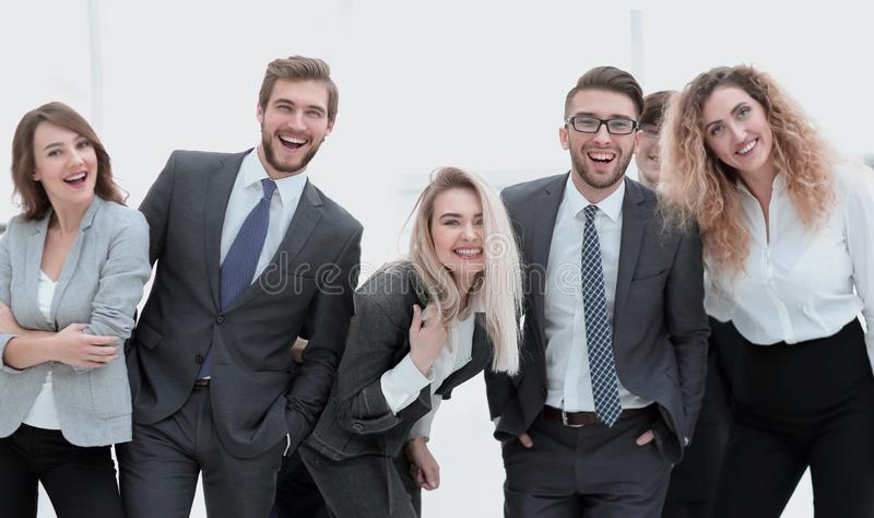 Closeup.friendly business team. royalty free stock images