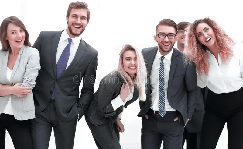 Closeup.friendly business team. in officce. Closeup.friendly business team. the concept of teamwork royalty free stock photography