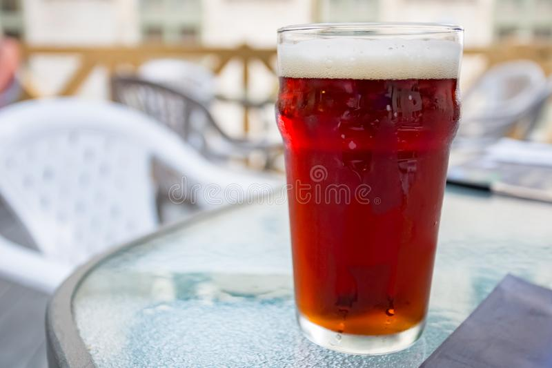 Closeup Glass of Beer royalty free stock images