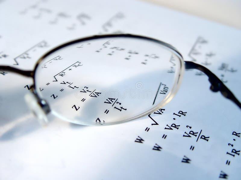 Closeup of Glasses Len royalty free stock photo