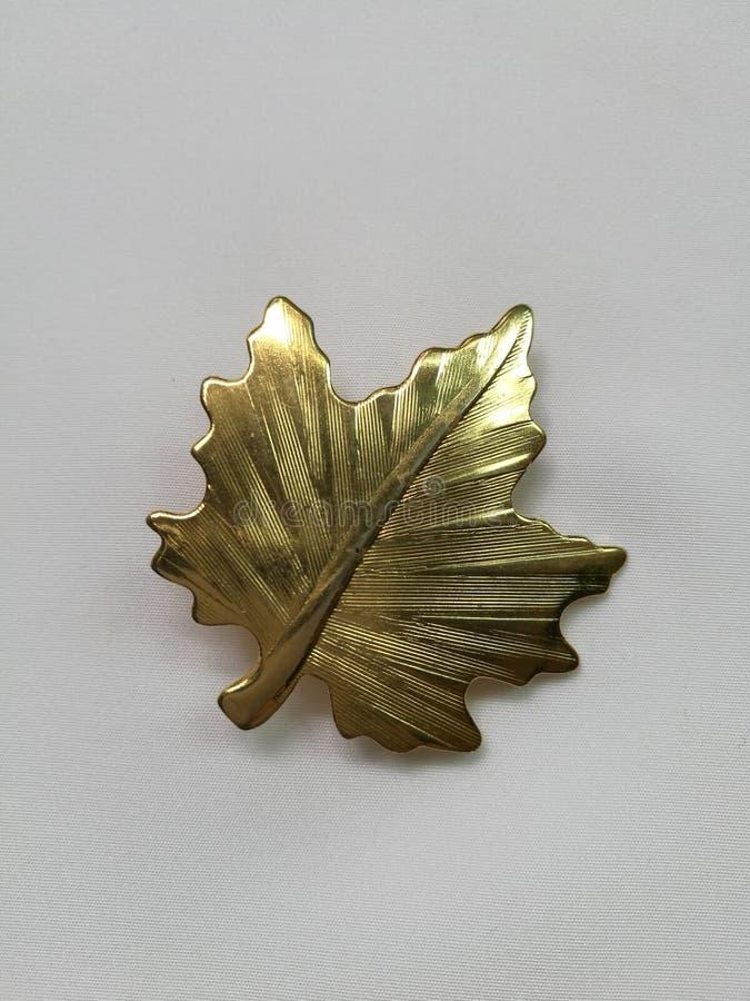 Maple leaf brooch stock photos