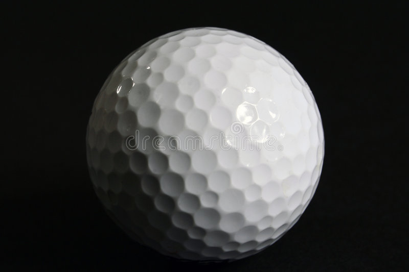 Download Closeup Golf Ball on Black stock image. Image of surface - 3101415