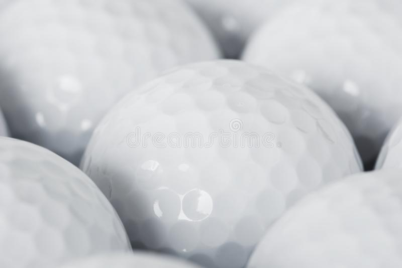 Closeup of golf ball macro shot stock photos