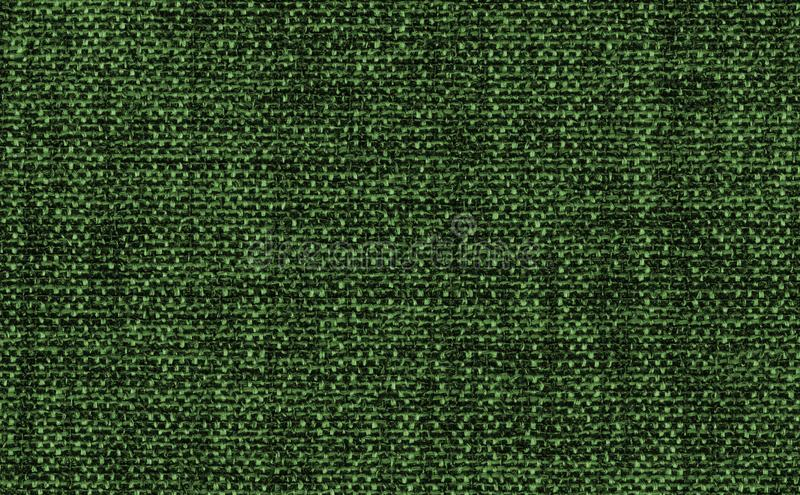 Closeup green or olive green color fabric texture. Green fabric strip line pattern design or upholstery abstract background. Hi resolution image stock photography