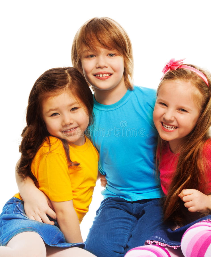 Little Boy And Girls Stock Photo. Image Of Friends, People