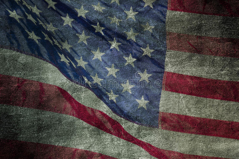Closeup of grunge American flag royalty free stock image