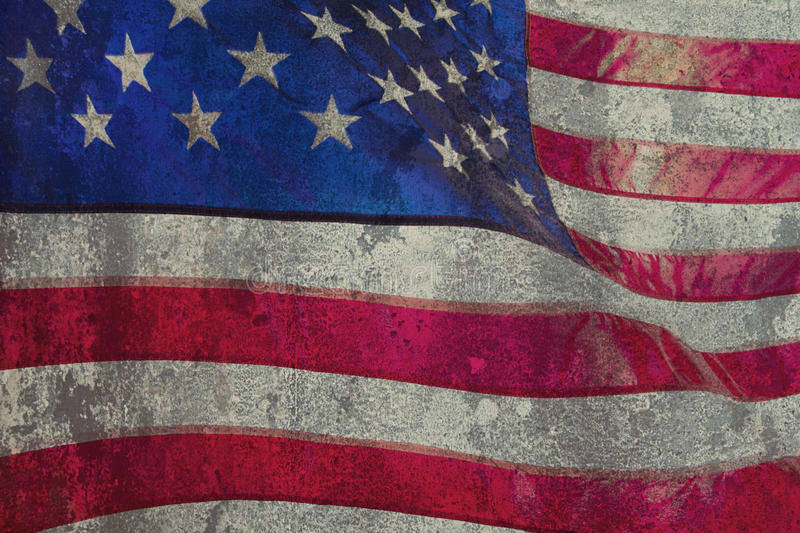Closeup of grunge American flag royalty free stock photo