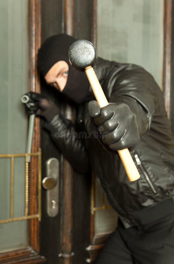 Closeup Hammer And Bandit Stock Image