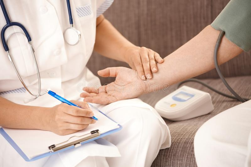Download Closeup Of Hand Checking Heartbeat Stock Image - Image: 18216197