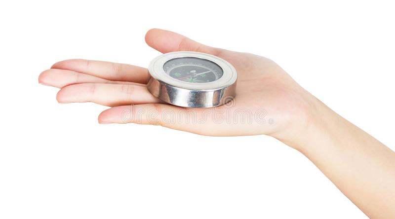 Download Closeup hand and compass stock photo. Image of travel - 29023794