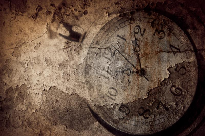 Grunge clock time stock photos