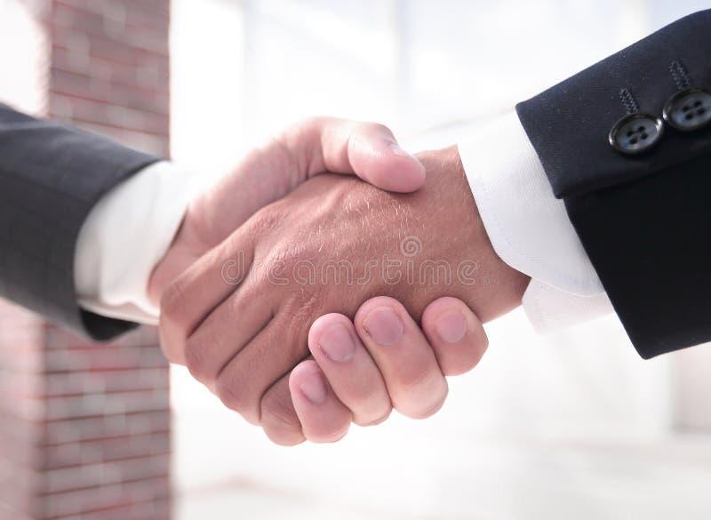Closeup.handshake of business partners stock images