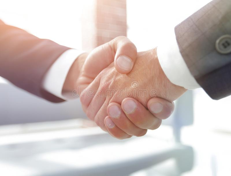 Closeup.handshake of business partners royalty free stock images