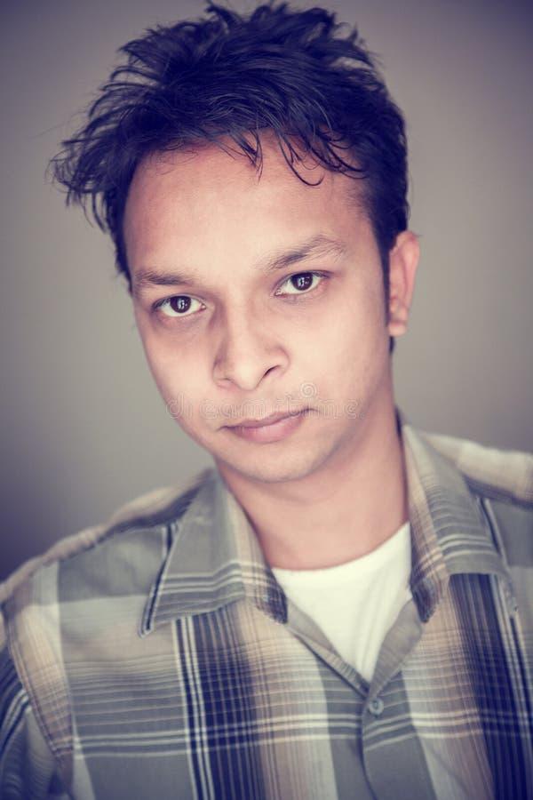 Closeup of handsome indian young man royalty free stock photos