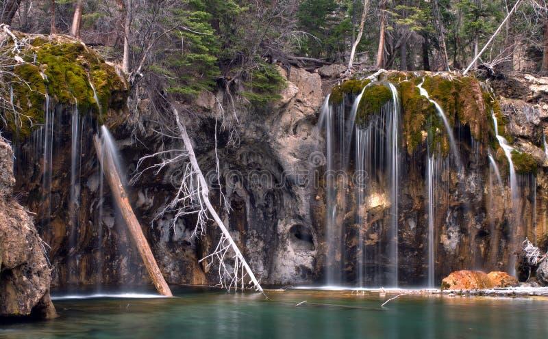 Closeup of Hanging Lake in Glenwood Canyon, Colorado stock images