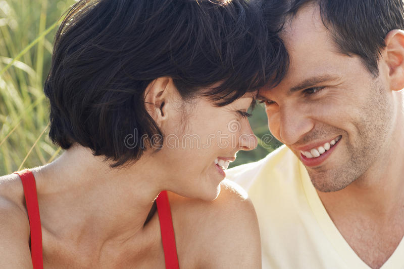 Closeup Of Happy Romantic Couple royalty free stock photo