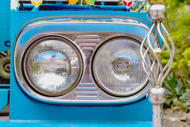 Closeup headlight lamp royalty free stock photos