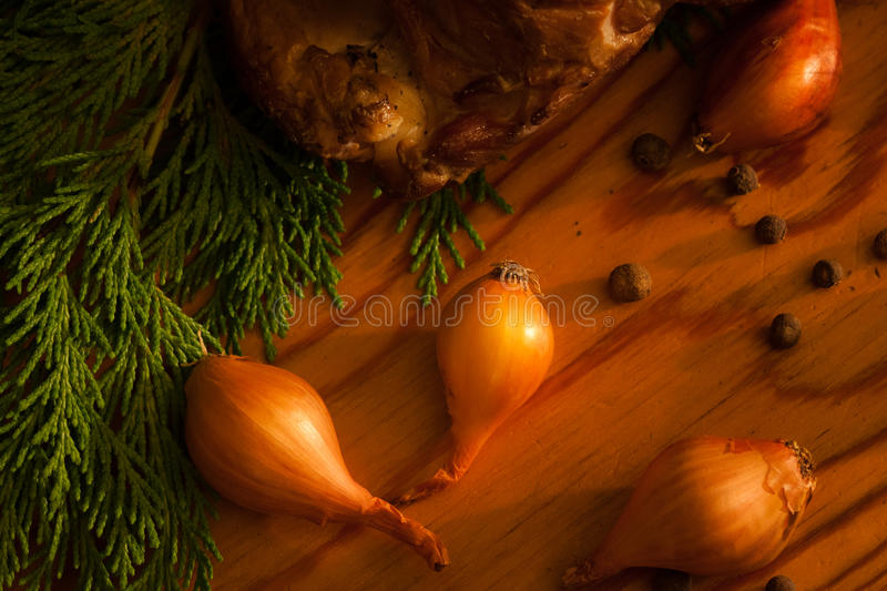 Download Closeup Homemade Ham In Forester's Lodge Stock Photo - Image: 22618894