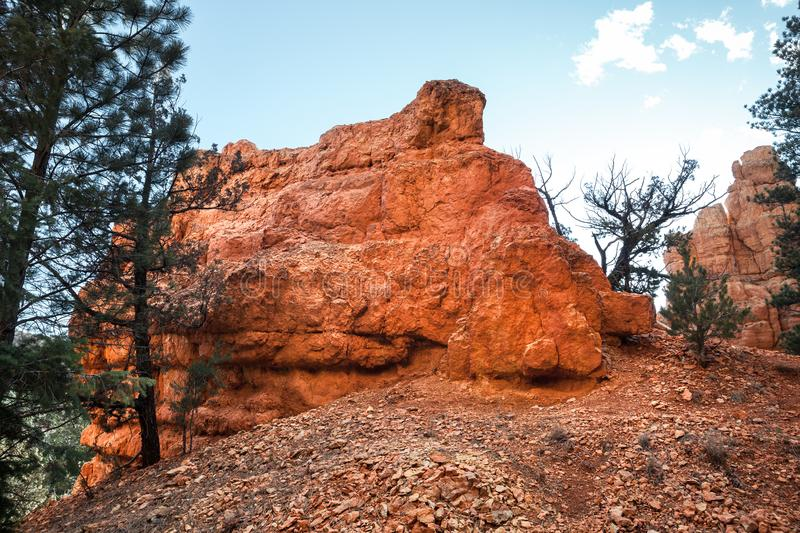 Closeup Of Hoodoo Rock Landscape Near Red Canyon In Utah royalty free stock photography
