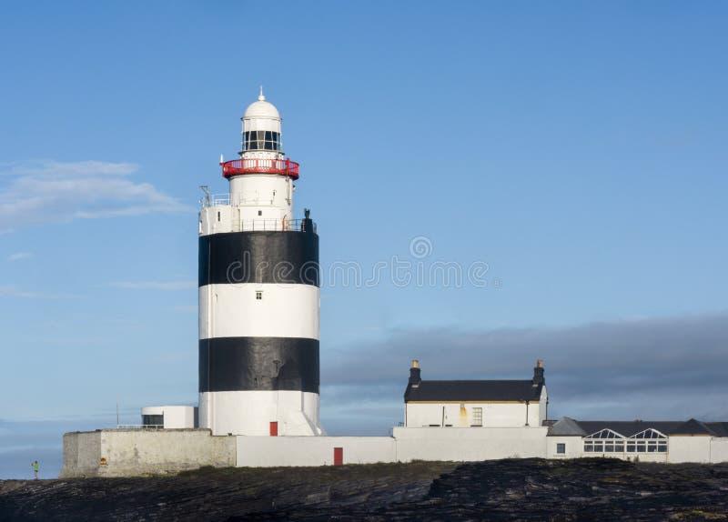 Closeup of Hook Lighthouse, County Wexford, Ireland stock photos