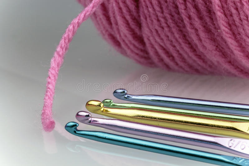 Closeup Hooks and Thread stock image