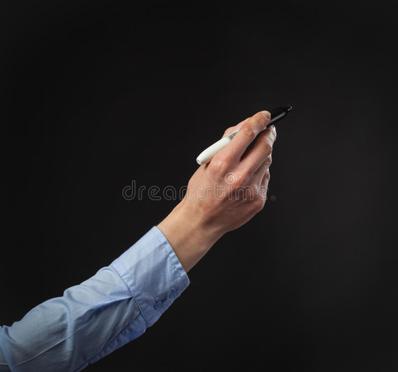 Download Closeup Of A Human Hand Writing With Marker Stock Image - Image: 34074419