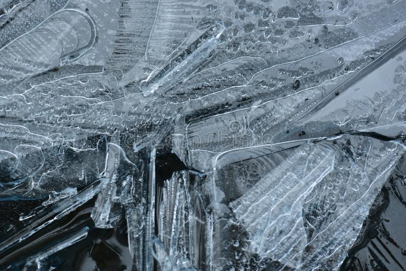Ice water closeup during winter royalty free stock image