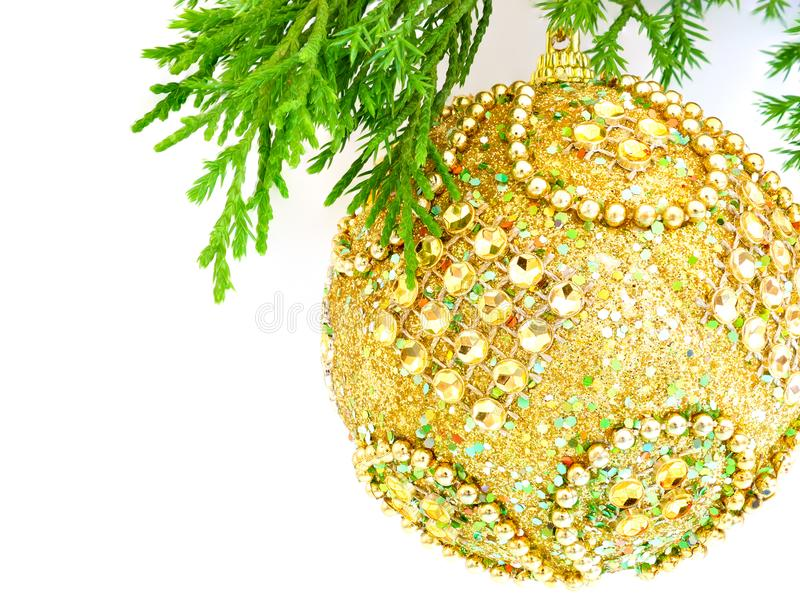 Gold Christmas Ball stock image