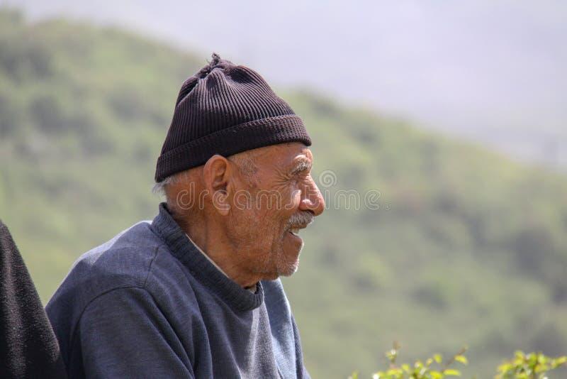 Closeup image of a happy rural man, Iran, Gilan royalty free stock photos