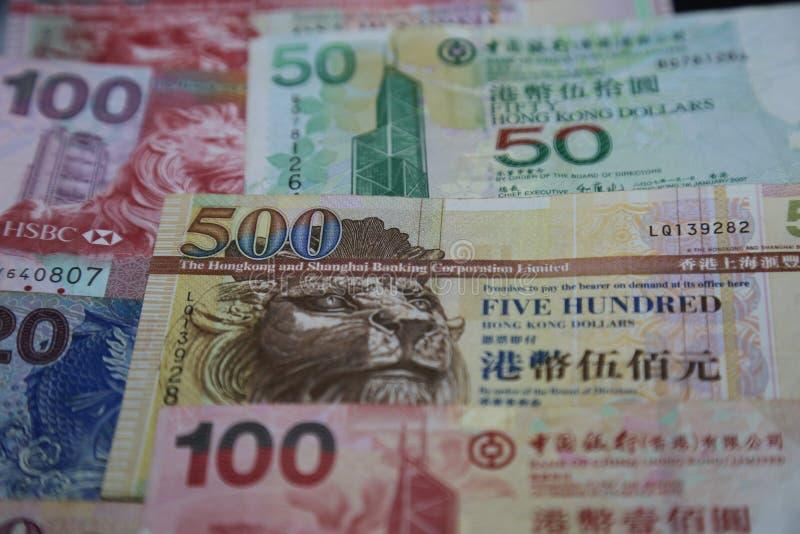 Hong Kong Dollar - Banknotes closeup royalty free stock photo