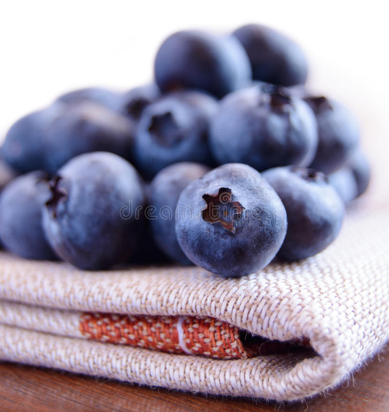 Download Closeup Image Of Blueberries On The Fabric Serviette Stock Photo - Image: 30085992