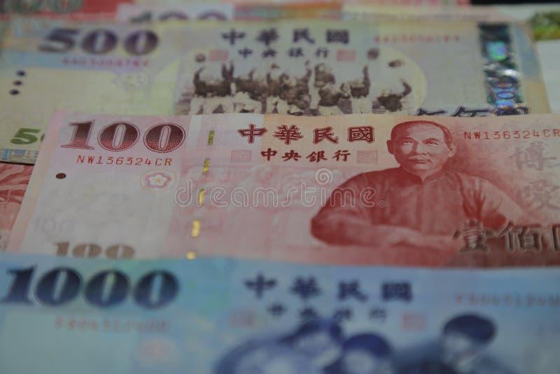 New Taiwan Dollar - Banknotes closeup stock images