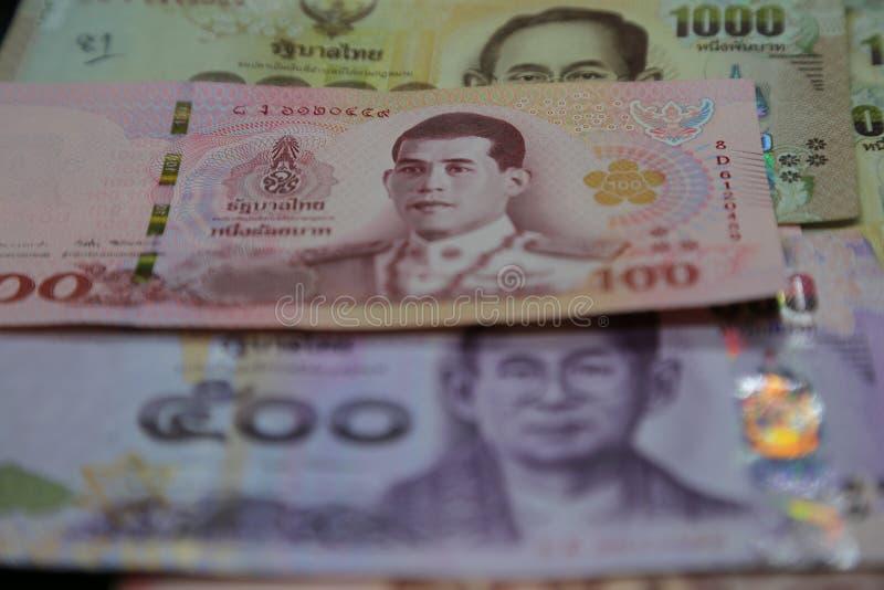 Thai Baht - Banknotes closeup royalty free stock photography