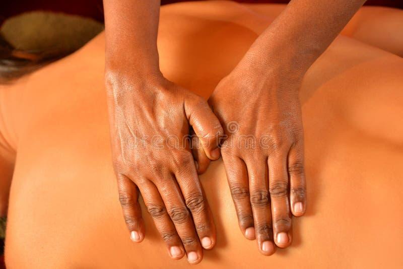 Closeup indian massage royalty free stock photo