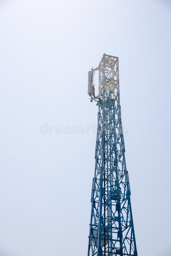 Closeup of a Japan radio telecommunication antenna tower. Close up of a Japan radio telecommunication antenna tower stock photography